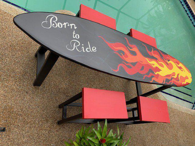 surfboard bars and tables of sarasota florida