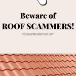 Beware of Roof Scammers