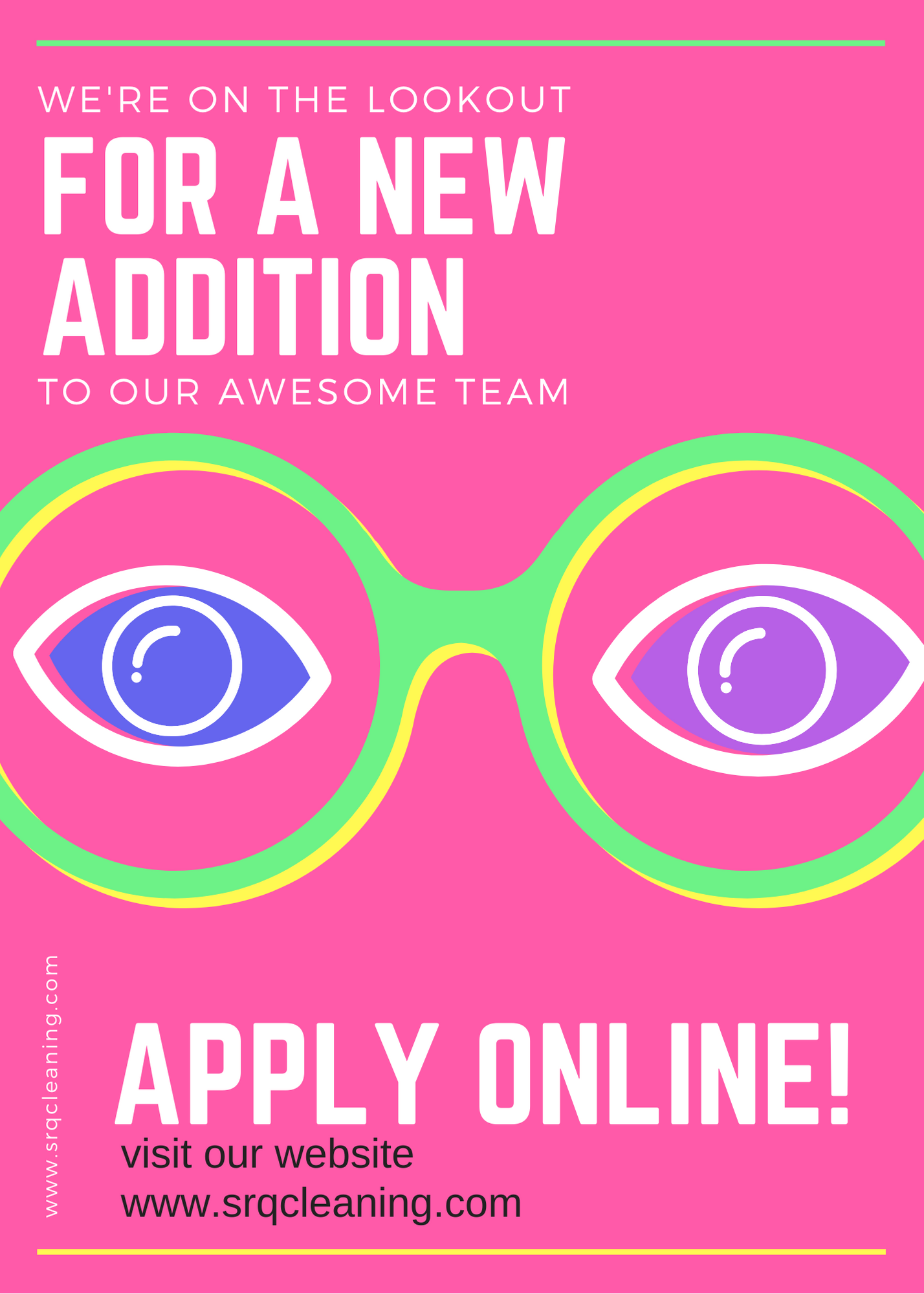 Pink Illustrated Job Vacancy Announcement Free
